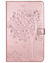 For Samsung Galaxy TAB T580 T280 Case Cover Card Holder Wallet with Stand Flip Embossed Full Body Case Tree Cat Butterfly Hard PU Leather for T560