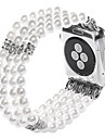 Jade Agate Pearl Beads Strap Handmade Jewelry for Apple Watch iWatch 38mm 42mm