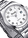 Муж. Модные часы Кварцевый Календарь сплав Группа Серебристый металл