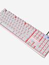 Ajazz 103keys the shaft usb clavier retro-eclaire clavier noir et blanc avec cable 160cm