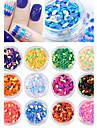 12PCS Dazzle Colour Water Droplets Form 7 Colour Sequins