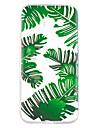 Etui pour samsung galaxy a5 (2017) a7 (2017) casque feuilles vertes motif peint haute penetration tpu materiel etui souple pour telephone