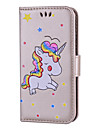 Назначение iPhone 8 iPhone 8 Plus Чехлы панели Бумажник для карт Флип С узором Чехол Кейс для единорогом Твердый Искусственная кожа для