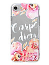 Etui pour iphone 7 plus iphone 6 mot / phrase motif fleur motif doux pour iphone 7 iphone 6 / 6s plus iphone 6 / 6s iphone5 5s se