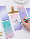 1 pc de couleur degradee auto-adhesif notes 40 pages (couleur aleatoire)