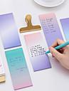 1 pc gradiente cor auto-stick notas 40 paginas (cor aleatoria)