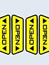 porte beaucoup de voitures ouvertes autocollants reflechissants avertissement accord pedestrians effet d\'entrainement de la securite de chaque voiture