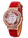 Femme Montre Tendance Montre Bracelet Montre a Cristal Flottant Quartz Cuir Bande Cool Pour tous les jours Noir Blanc Rouge Violet