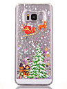 etui pour samsung galaxy s8 plus s8 fluide liquide motif back cover arbre hard pc