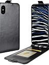 Назначение iPhone X Чехлы панели Бумажник для карт Флип Чехол Кейс для Сплошной цвет Твердый Искусственная кожа для Apple iPhone X iPhone