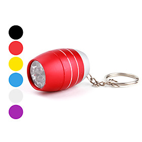 barril forma 6 leds chaveiro lanterna