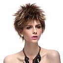 Монолитным Высший сорт Синтетические волосы русые короткие прямые парики