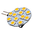1.5W G4 LED Spotlight 12 SMD 5050 70 lm Warm White DC 12 V