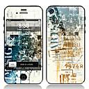 Retro Design Front-und Back-Schirm-Schutz-Film für iPhone 4/4S