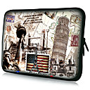 "Laptop Tablet Sleeve Case Postcard Pattern Waterproof For 7"" 10"" 11"" 13"" 15"""