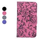Blumen-Muster Full Body Case mit Ständer und Card Slot für Samsung Galaxy Note N7100 2 (verschiedene Farben)
