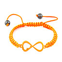Acrylic Infinite Pattern Woven Bracelet(Assorted Colors)