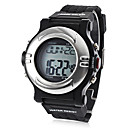 Unisex Heart Rate Monitor Calorie Counter Style Silicone Digital Automatic Wrist Watch (Black)