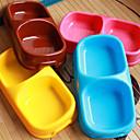 Cat / Dog Bowls & Water Bottles Pet Bowls & Feeding Waterproof / Portable Blue / Brown / Pink / Yellow Plastic