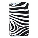 Zebra-stripe Pattern Hard Case for iPhone 4/4S