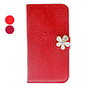 Noble Rhinestone Flower Design PU Leather Case Noble for Samsung Galaxy S4 I9500 (Assorted Colors)