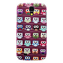 Matte Style Cartoon Owl Pattern Durable Hard Case for Samsung Galaxy S4 I9500