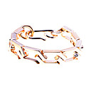 Lureme®Gold Plated Acrylic Chain Bracelet