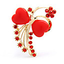 Heart Bowknot Shape Brooch(Random Color)