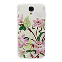 Pink Lily Flowers Pattern for Samsung Galaxy S4 I9500