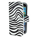 Zebra Pattern PU Leather Case with Stand and Card Slot for Samsung Galaxy S3 I9300