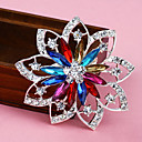 Women's  Colorful Flower Brooch(Random Color)