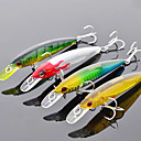 Trulinoya duro Mini-Bait Radiación Interna 95mm/9g/1m Minnow Fishing Lure (color al azar)