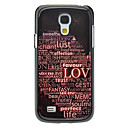 Letter LOVE Pattern Aluminum Hard Case for Samsung Galaxy S4 mini I9190