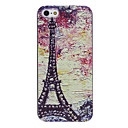 Oil Painting Eiffel Tower Pattern PC Hard Case with Interior Matte Protection for iPhone 5/5S