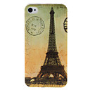Eiffel Tower Pattern Plastic Hard Case for iPhone 4/4S