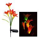 RGB Color Changing Solar LED Flower Garden Light (CIS-A2807)