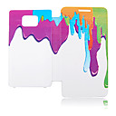 Spray Oil Paint Leather Case for Samsung Galaxy S2 I9100