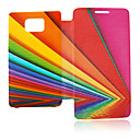 Inverted Image Line Leather Case for Samsung Galaxy S2 I9100