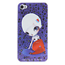 Sexy Lady Pattern PC Hard Case for iPhone 4/4S