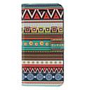 Fragrant Smell Ethnic Pattern Full Body Case with Matte Back Cover and Stand for iPhone 5/5S