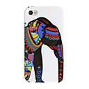 Ethnic Style Dressed Elephant Pattern Hard Case for iPhone 4/4S