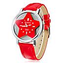 Women's Lucky Star Dial PU Band Quartz Analog Wrist Watch (Assorted Colors)