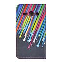 Starlight полосы Рисование Pattern Кожа PU пластиковые Твердый переплет пакеты для Samsung S7272