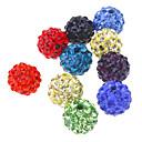 Мода Круглый Форма многоцветный Кристалл DIY шариков 10pcs