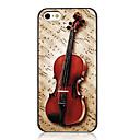 Яркие скрипки и Музыкальная нота Pattern задняя крышка для iPhone 5 / 5S
