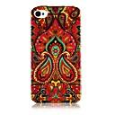 Национальный стиль Pattern Красочные линии Силиконовые Мягкий чехол для iPhone4 / 4S