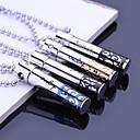 Персонализированные подарок ювелирных изделий Hollow нержавеющей стали с гравировкой ожерелье с 60 см цепи