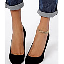 Сладкий Простой Fishbone Форма Сеть Женщины золотого сплава Barefoot Sandals (27cm2cm2cm) (1 шт)