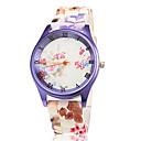 Женская Фиолетовый Дело Красочный силиконовой лентой кварцевые наручные часы
