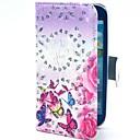 Красочные бабочки Цветы Pattern Блеск PU кожаный чехол с подставкой для Samsung Galaxy S3 I9300